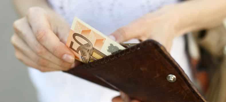 billetera euros